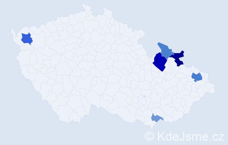 Příjmení: 'Akritidis', počet výskytů 14 v celé ČR