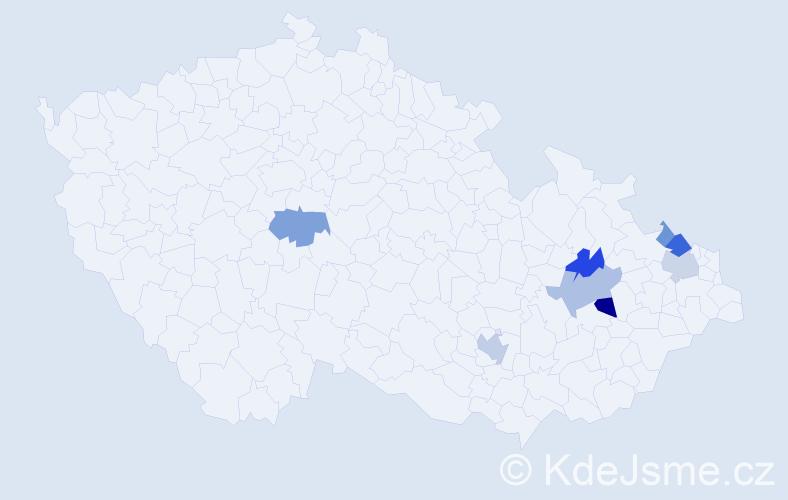 Příjmení: 'Gogolín', počet výskytů 17 v celé ČR