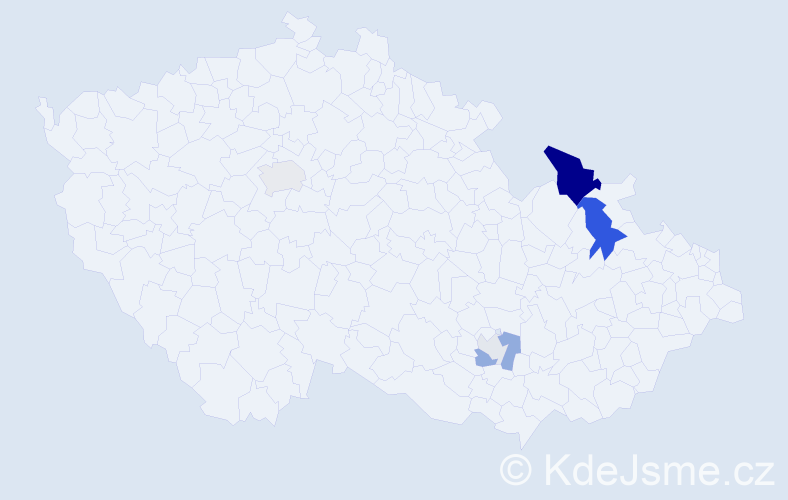 Příjmení: 'Černatovičová', počet výskytů 16 v celé ČR