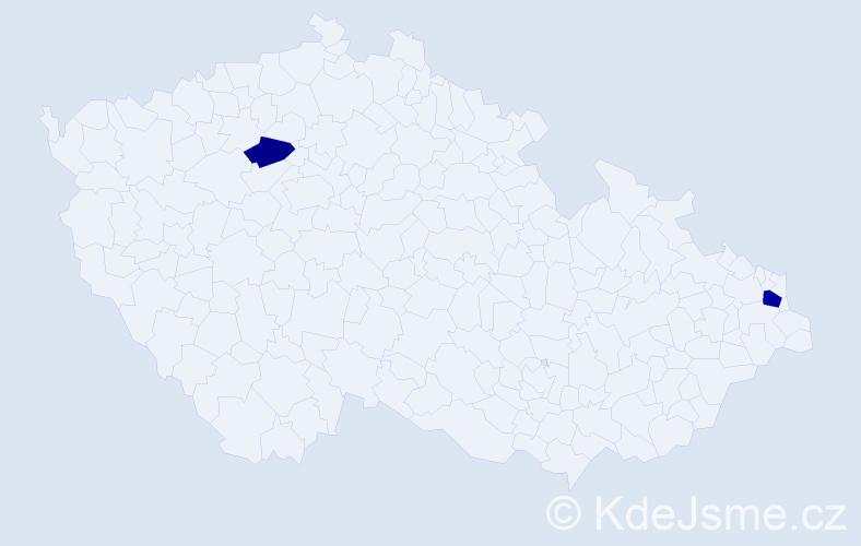Příjmení: 'Grit', počet výskytů 3 v celé ČR