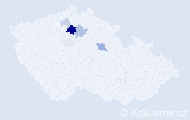 Příjmení: 'Čvančar', počet výskytů 17 v celé ČR