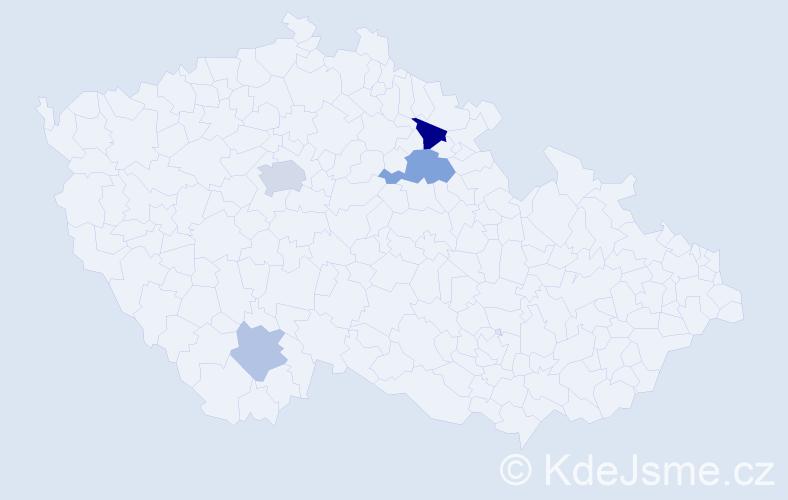 Příjmení: 'Jaberová', počet výskytů 8 v celé ČR