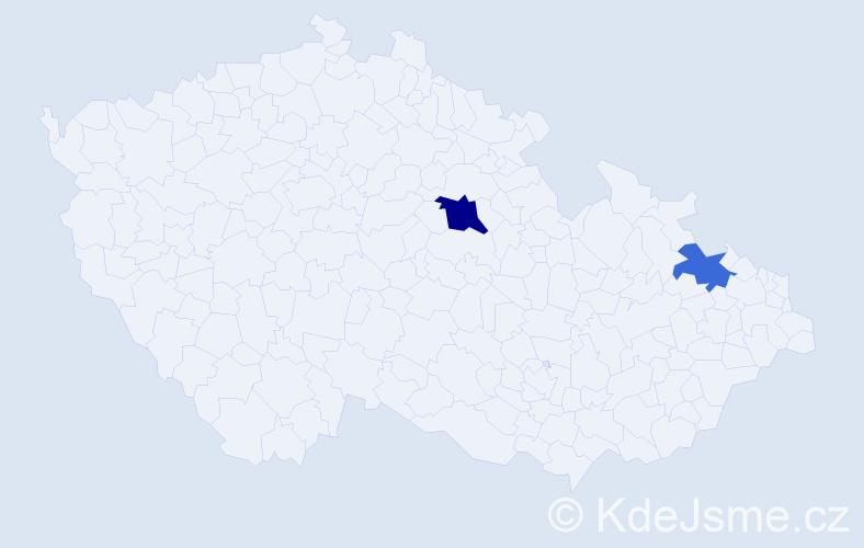 Příjmení: 'Kakulidis', počet výskytů 3 v celé ČR
