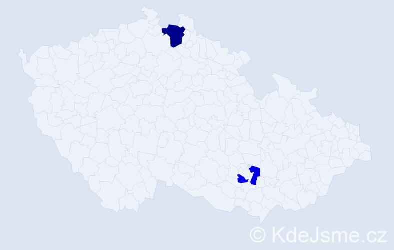 Příjmení: 'Lampel', počet výskytů 3 v celé ČR