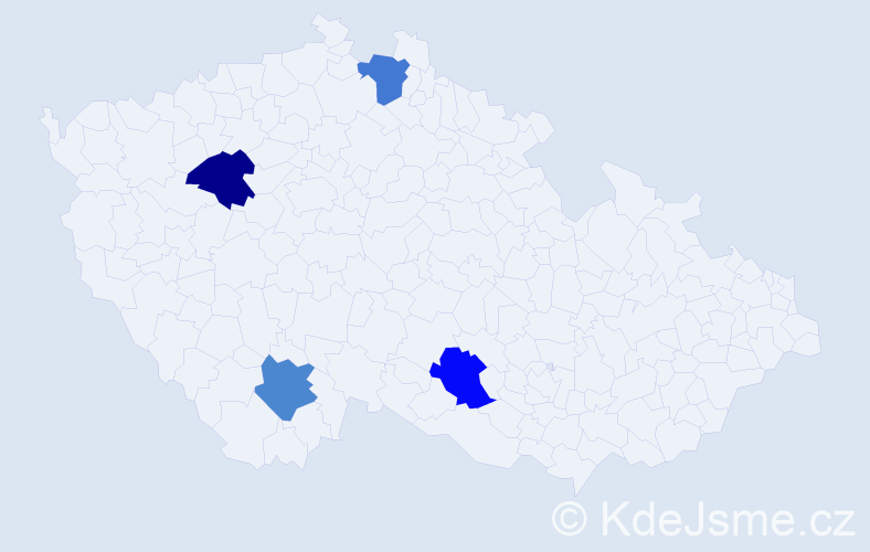 Příjmení: 'Konovalov', počet výskytů 4 v celé ČR