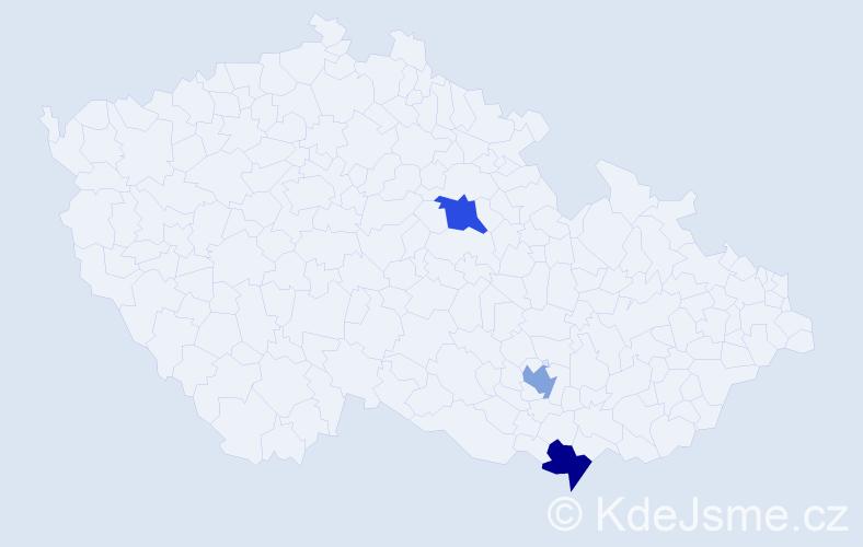 Příjmení: 'Köberle', počet výskytů 3 v celé ČR
