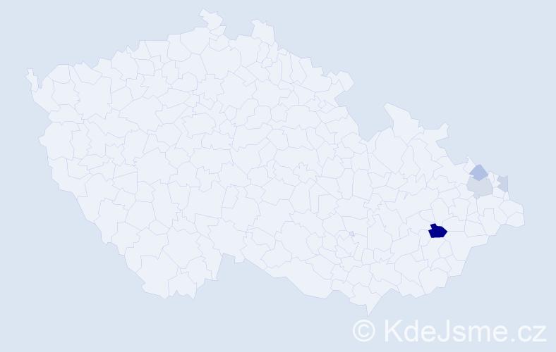 Příjmení: 'Grentek', počet výskytů 7 v celé ČR