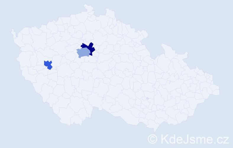 Příjmení: 'Carmine', počet výskytů 19 v celé ČR