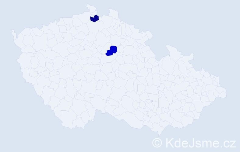 Příjmení: 'Jarovoj', počet výskytů 4 v celé ČR