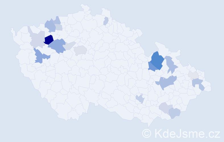 Příjmení: 'Boriková', počet výskytů 40 v celé ČR
