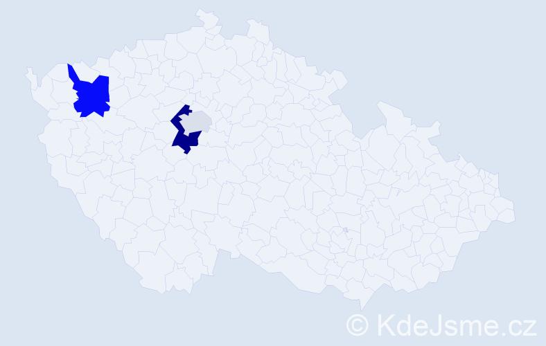 Příjmení: 'Langley', počet výskytů 6 v celé ČR