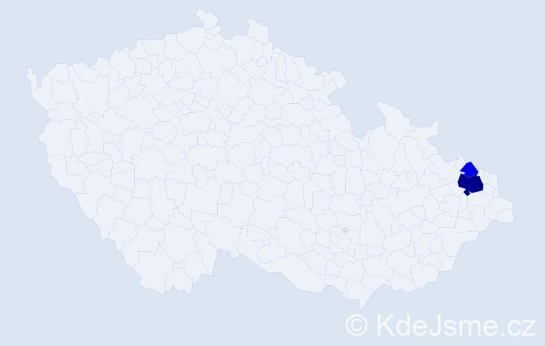 Příjmení: 'Golinská', počet výskytů 7 v celé ČR