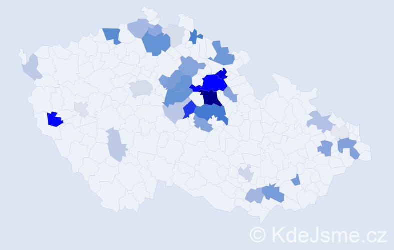 Příjmení: 'Desenský', počet výskytů 112 v celé ČR
