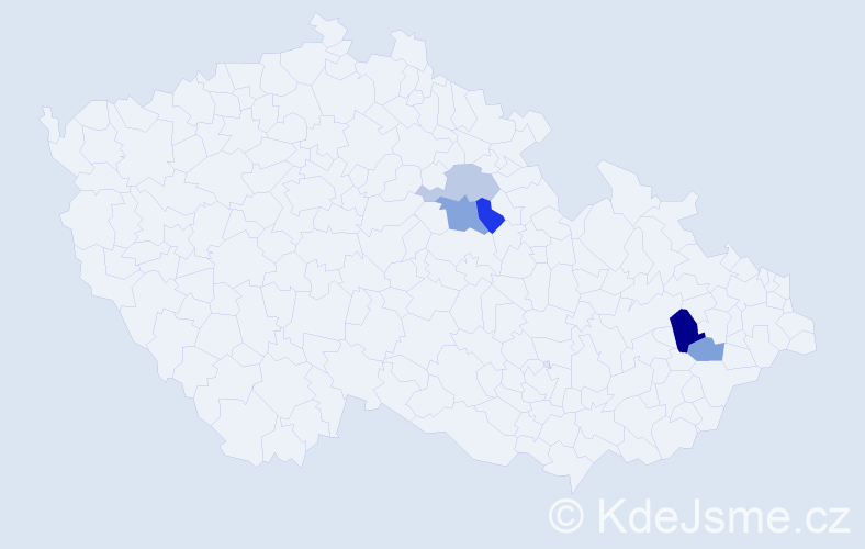 Příjmení: 'Brachánková', počet výskytů 8 v celé ČR