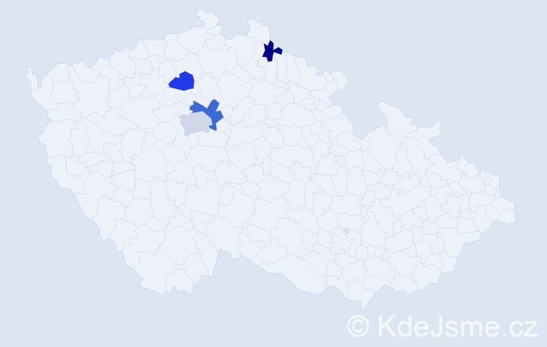 Příjmení: 'Cimoradská', počet výskytů 6 v celé ČR