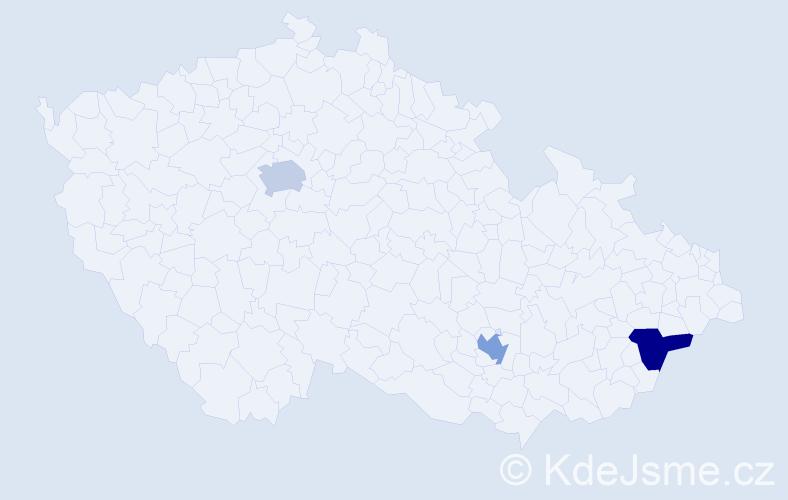 Příjmení: 'Khazal', počet výskytů 6 v celé ČR