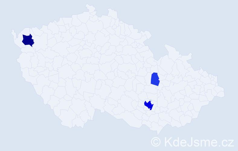 Příjmení: 'Jirsenská', počet výskytů 16 v celé ČR