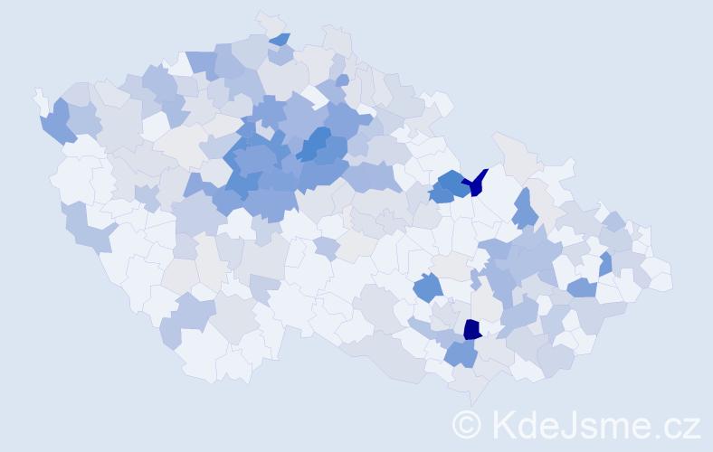 Příjmení: 'Borovičková', počet výskytů 888 v celé ČR