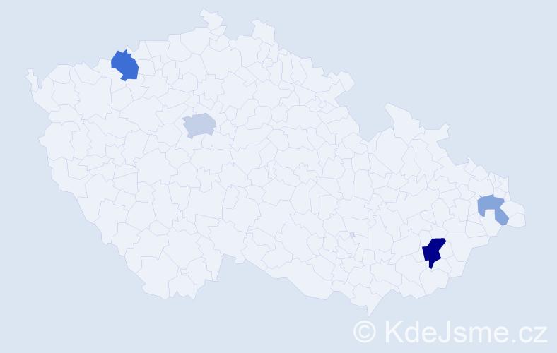 Příjmení: 'Kilík', počet výskytů 10 v celé ČR
