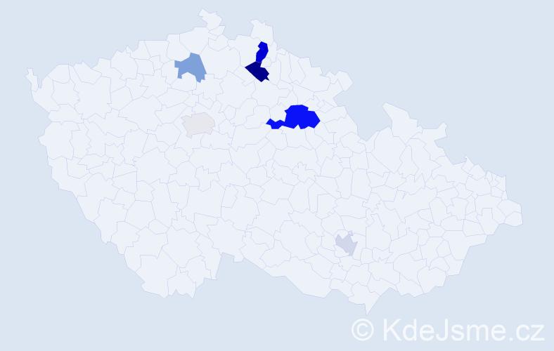Příjmení: 'Jankaj', počet výskytů 13 v celé ČR