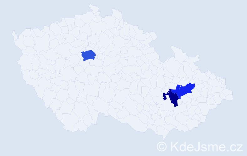 Příjmení: 'Kapetanović', počet výskytů 7 v celé ČR