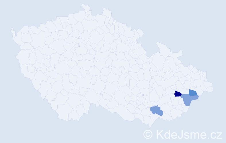 Příjmení: 'Bernhauser', počet výskytů 4 v celé ČR