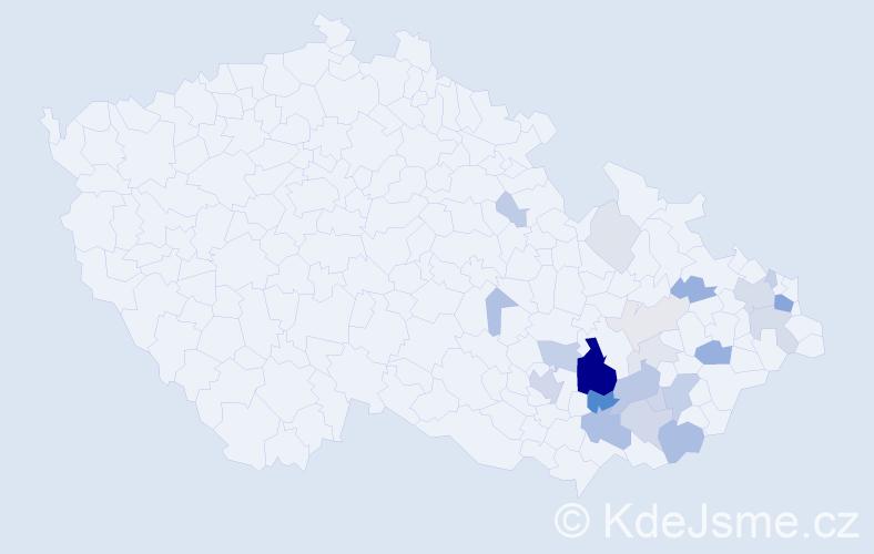 Příjmení: 'Křetinský', počet výskytů 69 v celé ČR