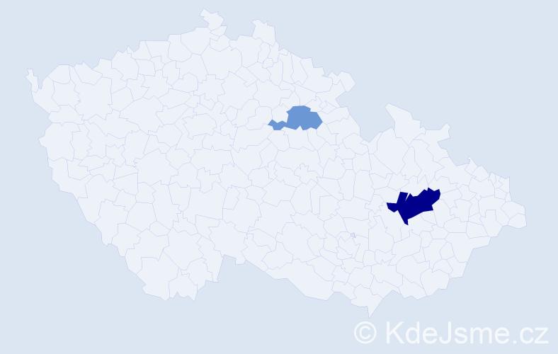 Příjmení: 'Kočírková', počet výskytů 4 v celé ČR