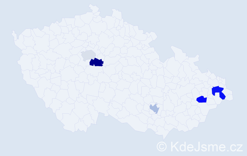 Příjmení: 'Krus', počet výskytů 20 v celé ČR