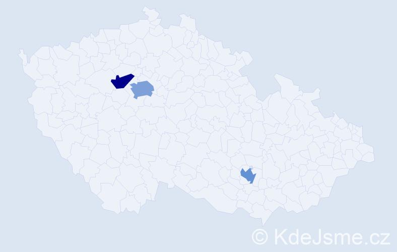 Příjmení: 'Epp', počet výskytů 4 v celé ČR