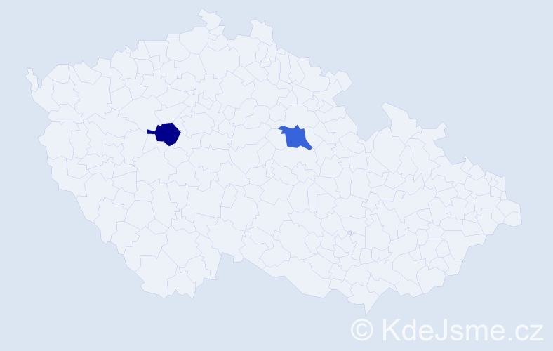 Příjmení: 'Bakai', počet výskytů 2 v celé ČR