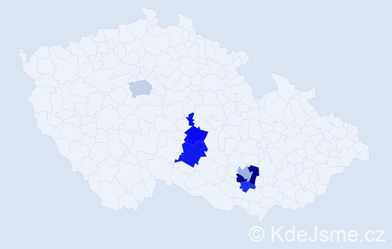 Příjmení: 'Eisenwortová', počet výskytů 14 v celé ČR