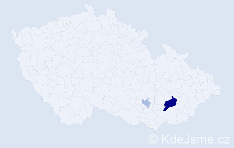 Příjmení: 'Báňarová', počet výskytů 3 v celé ČR