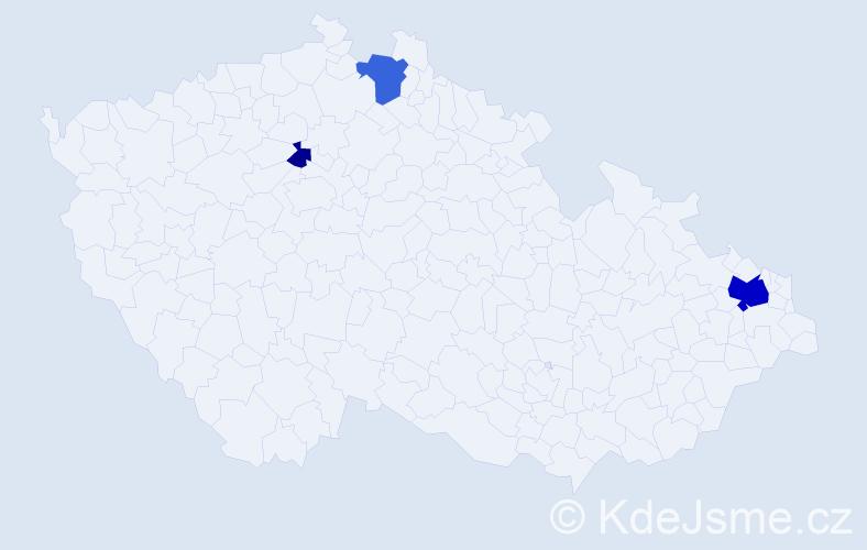 Příjmení: 'Komendrová', počet výskytů 9 v celé ČR