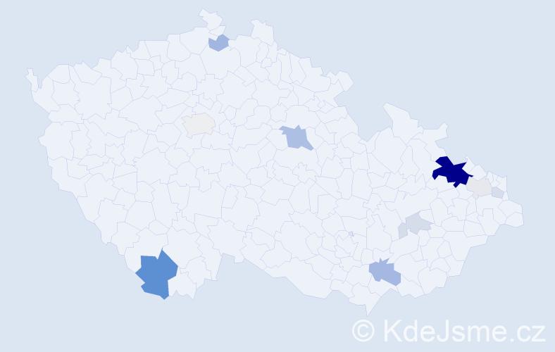 Příjmení: 'Fuchsík', počet výskytů 33 v celé ČR