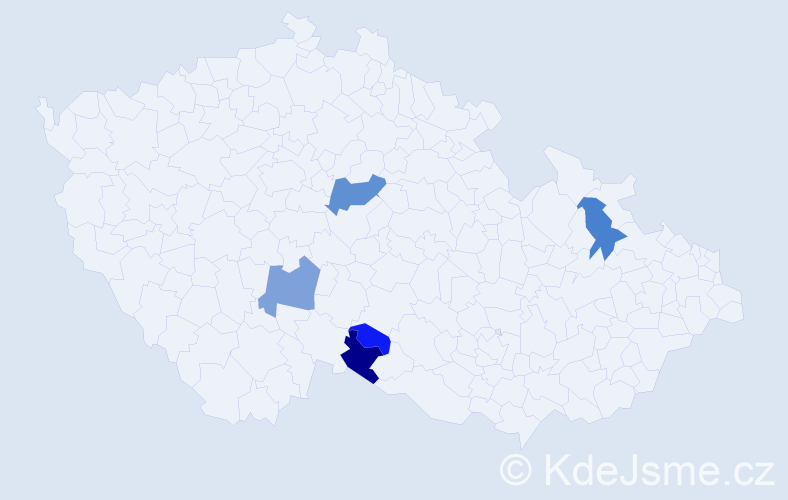Příjmení: 'Gröhlingová', počet výskytů 10 v celé ČR
