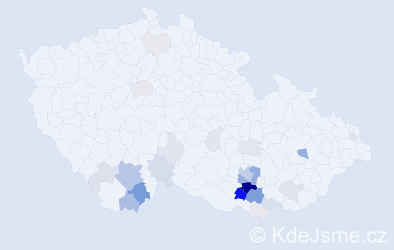 Příjmení: 'Kelblová', počet výskytů 101 v celé ČR