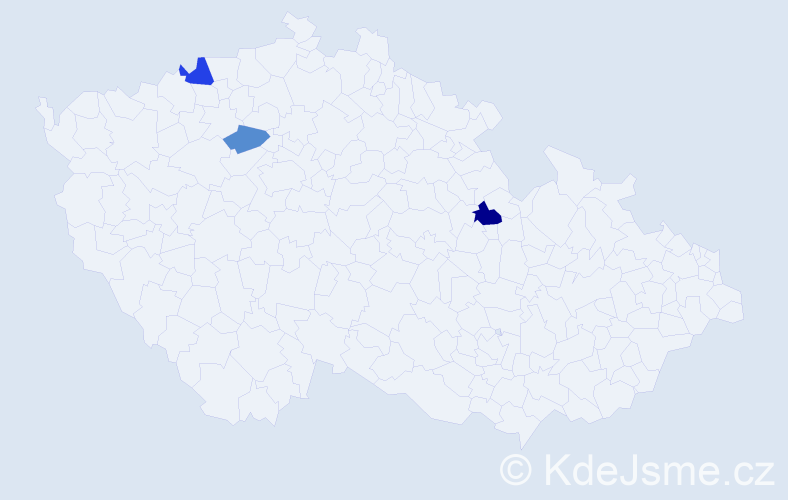 Příjmení: 'Čevonová', počet výskytů 8 v celé ČR