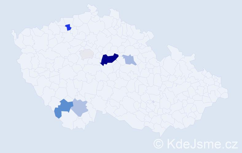 Příjmení: 'Eiman', počet výskytů 10 v celé ČR