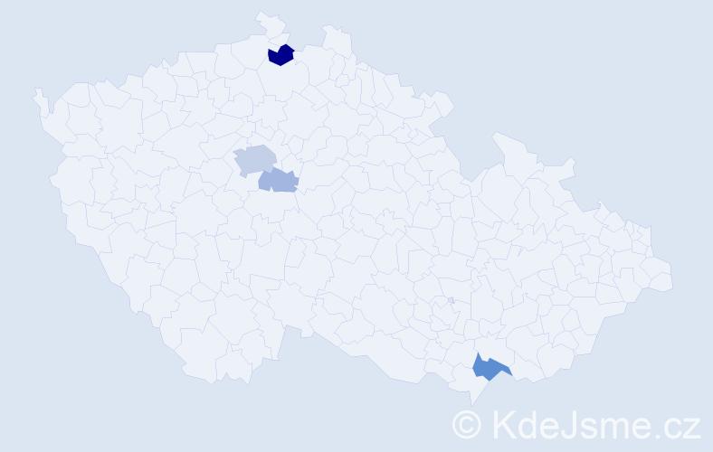 Příjmení: 'Ditter', počet výskytů 14 v celé ČR