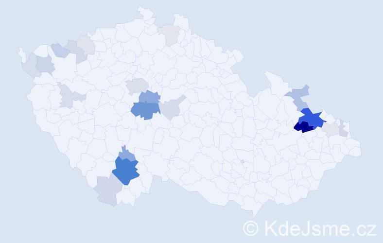 Příjmení: 'Čermínová', počet výskytů 83 v celé ČR