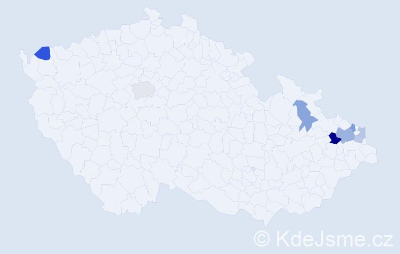 Příjmení: 'Beleščáková', počet výskytů 14 v celé ČR