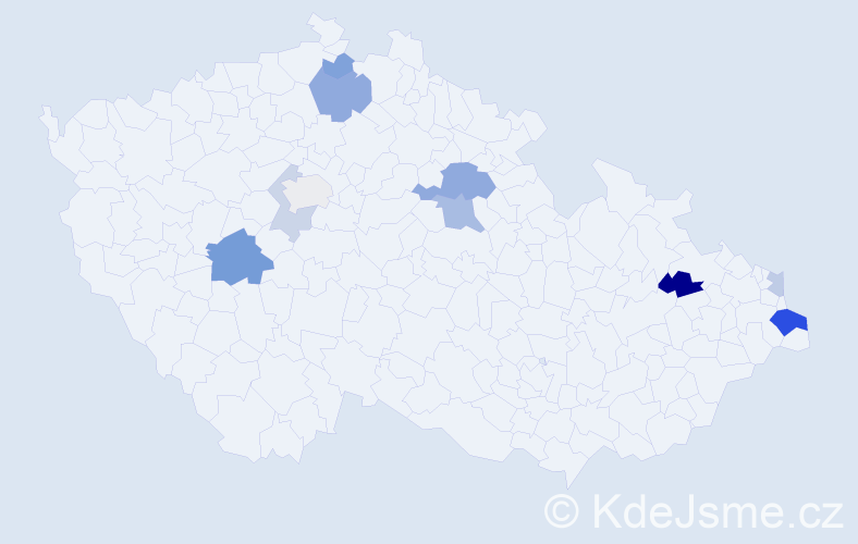 Příjmení: 'Capko', počet výskytů 21 v celé ČR