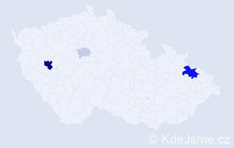 Příjmení: 'Farhan', počet výskytů 8 v celé ČR