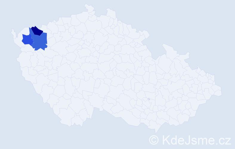 Příjmení: 'Karliczek', počet výskytů 8 v celé ČR