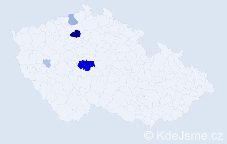 Příjmení: 'Ľuptáčiková', počet výskytů 7 v celé ČR