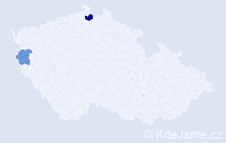 Příjmení: 'Dejsun', počet výskytů 3 v celé ČR