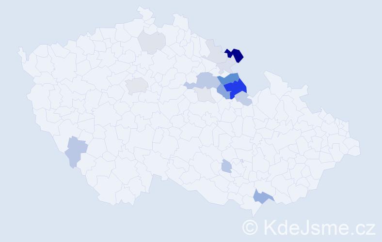 Příjmení: 'Archleb', počet výskytů 41 v celé ČR