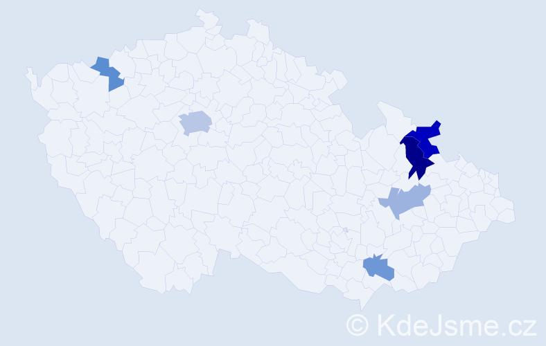 Příjmení: 'Halušicová', počet výskytů 11 v celé ČR