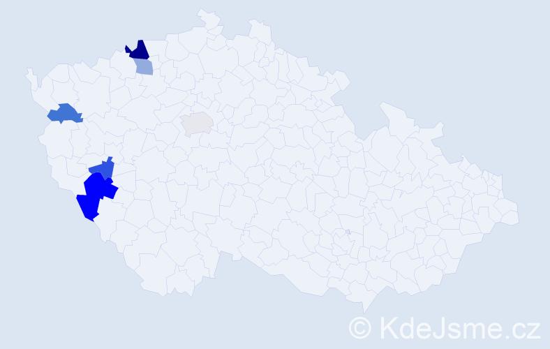 Příjmení: 'Irlveková', počet výskytů 10 v celé ČR